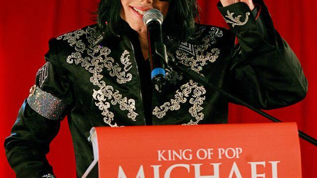 La popstar américaine Michael Jackson lors d'une conférence de presse à Londres, le 5 mars 2009 [Carl de Souza / AFP/Archives]
