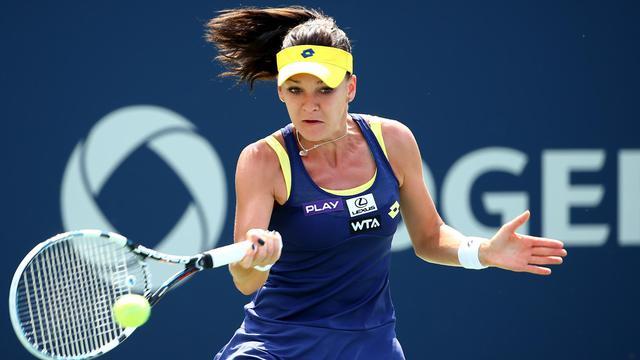 La Polonaise Agnieszka Radwanska, lors de la finale du tournoi de Montréal, le 10 août 2014 [Streeter Lecka / Getty/AFP]