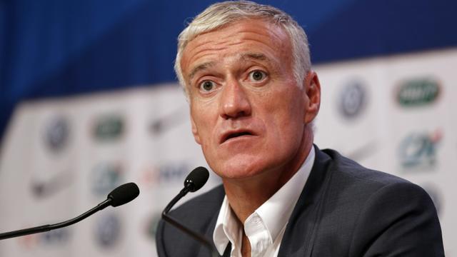 Le sélectionneur des Bleus Didier Deschamps en conférence de presse après l'annonce de son équipe, le 5 novembre 2015 à Paris [FRANCOIS GUILLOT / AFP/Archives]