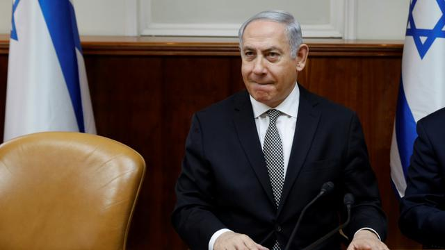 Le Premier ministre israélien Benjamin Netanyahu, le 25 février 2018 dans son bureau à Jérusalem [GALI TIBBON / AFP]