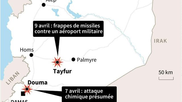 Frappes de missiles en Syrie [Gal ROMA / AFP]
