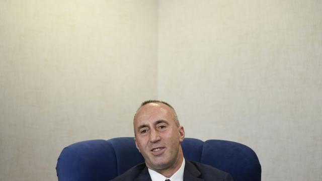 Le Premier ministre du Kosovo, Ramush Haradinaj, lors d'un entretien avec l'AFP le 25 janvier 2019 à Pristina [Armend NIMANI / AFP/Archives]