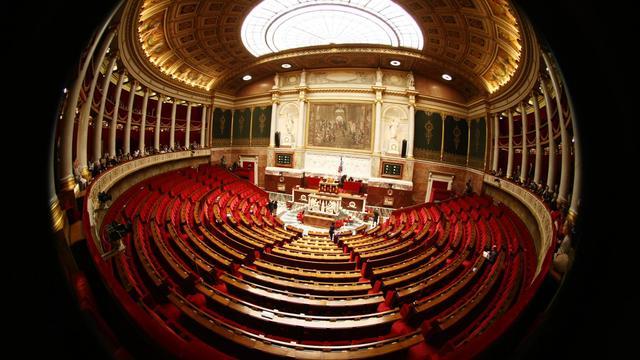 Vue de l'hémicycle de l'Assemblée nationale, le 4 mars 2009 [Joel Saget / AFP/Archives]