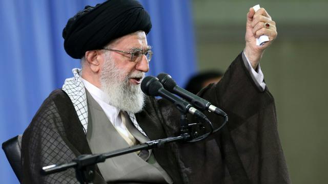 Le guide suprême iranien, l'ayatollah Ali Khamenei, le 16 septembre 2015 à Téhéran [- / KHAMENEI.IR/AFP/Archives]