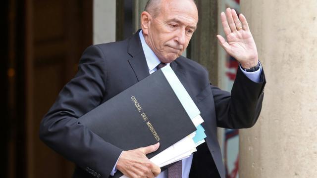 Gérard Collomb quitte l'Elysée à l'issue du conseil des ministres le 12 juin 2018 [LUDOVIC MARIN / AFP/Archives]