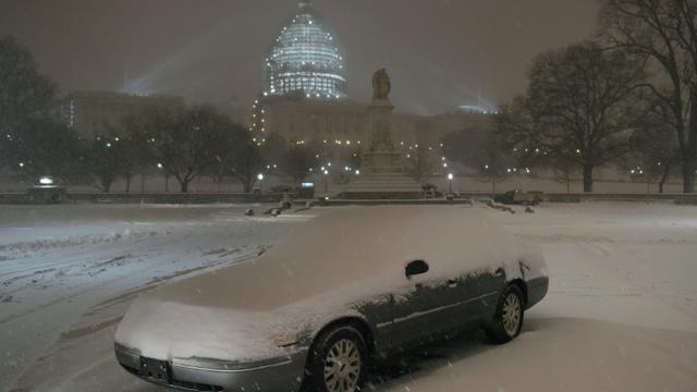 Neige le 22 janvier 2016 à Washington [MANDEL NGAN / AFP]