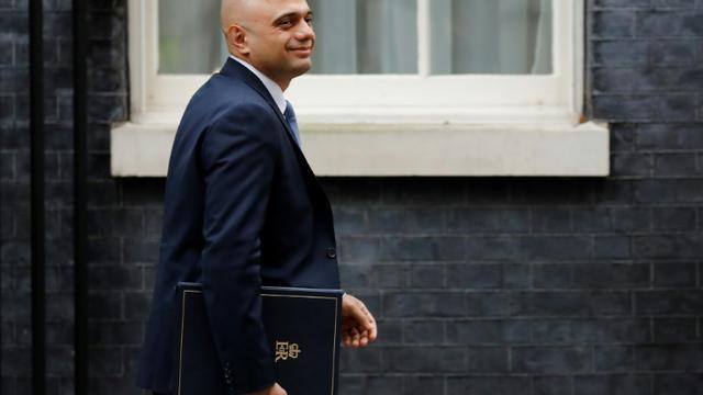 Le ministre de l'Intérieur Sajid Javid arrive à Downing Street le 18 décembre 2018.