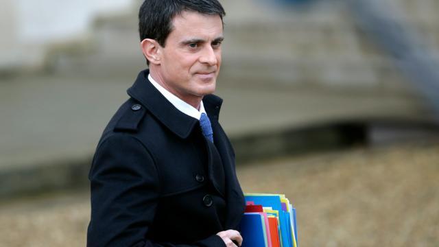 Manuel Valls à l'Elysée le 27 janvier 2016 [KENZO TRIBOUILLARD / AFP]