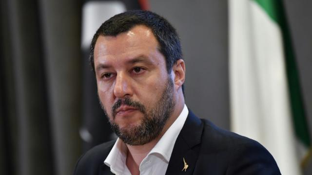 Le ministre italien de l'Intérieur Matteo Salvini à Rome, le 5 juillet 2018 [ANDREAS SOLARO / AFP/Archives]