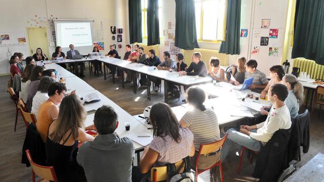 Des professeurs réunis le 2 septembre 2011 dans une salle du collège Lucie Aubrac à Paris, lors de la rentrée des enseignants  [Miguel Medina / AFP/Archives]