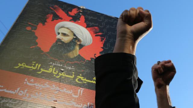 Manifestation le 3 janvier 2016 davant l'ambassade d'Arabie à Téhéran  [ATTA KENARE / AFP]