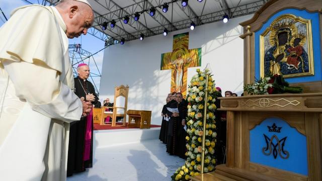 Le pape François à Iasi, en Roumanie, le 1er juin 2019 [Handout / VATICAN MEDIA/AFP]