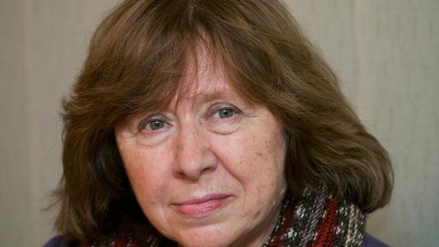 L'écrivaine bélarusse Svetlana Alexievitch à Minsk le 14 novembre 2014 [Maxim Malinovsky / AFP/Archives]