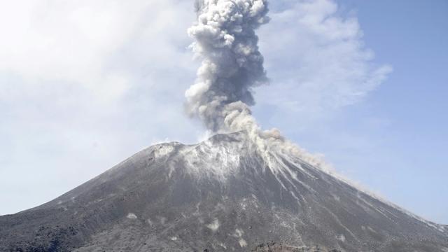 Le volcan Anak Krakatoa, le 18 juillet 2018    [FERDI AWED / AFP/Archives]