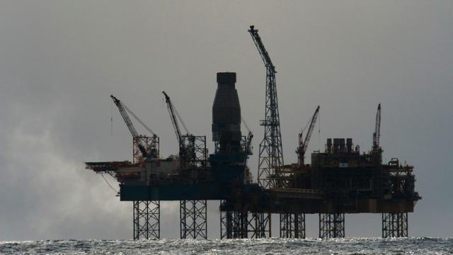 Une plate-forme Total en mer du Nord le 2 avril 2012 [JONATHAN NACKSTRAND / AFP]