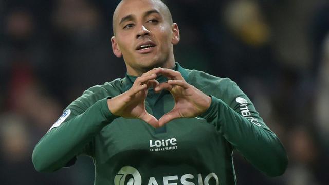 Le milileu de Saint-Etienne Wahbi Khazri buteur lors de la victoire à Geoffroy Guichard 3-0 sur Nantes le 30 novembre 2018  [ROMAIN LAFABREGUE / AFP]