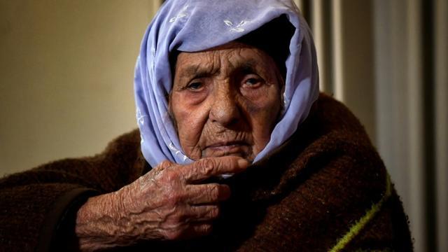 Laila Saleh, à Athènes, le 15 décembre 2017 [ARIS MESSINIS / AFP/Archives]