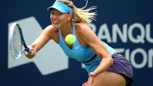 La Russe Marias Sharapova au 3e tour du tournoi WTA de Montréal le 7 août 2014 à Montréal [Streeter Lecka / GETTY IMAGES NORTH AMERICA/AFP]