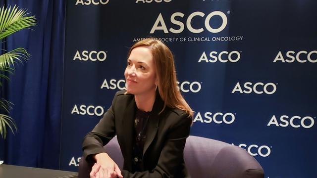 Sara Hurvitz lors de la conférence annuelle de l'American Society of Clinical Oncology (ASCO), à Chicago, le 1er juin 2019  [Issam AHMED / AFP]