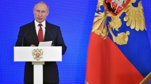 Le président russe Vladimir Poutine, le 4 novembre 2018 à Moscou [Alexander NEMENOV / POOL/AFP/Archives]