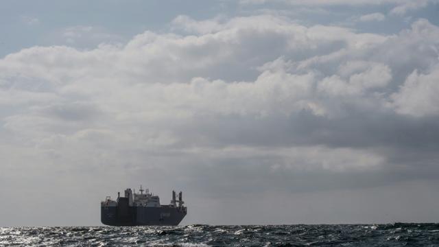 Le cargo saoudien au large des côtes françaises attend pour entrer dans le port du Havre, le 9 mai 2019 [LOIC VENANCE / AFP]