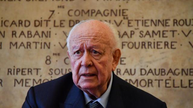 Le maire de Marseille Jean-Claude Gaudin donne une conférence de presse, le 8 novembre 2018 [GERARD JULIEN / AFP/Archives]