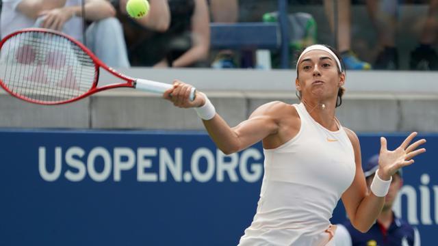 La Française Caroline Garcia éliminée au 3e tour de l'US Open par l'Espagnole Carla Suarez Navarro le 1er septembre 2018 [Don EMMERT / AFP]