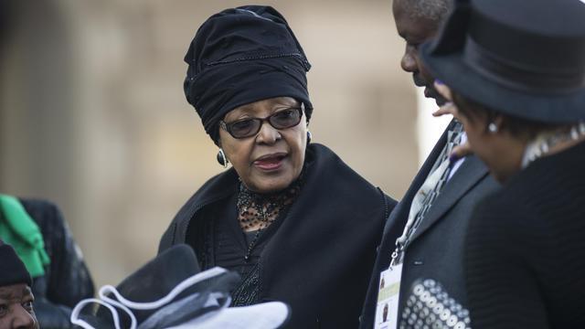 Winnie Mandela, ex-épouse de l'ancien président d'Afrique du Sud Nelson Mandela, le 24 mai 2014 à la cérémonie d'investiture du président Jacob Zuma à Pretoria [Mujahid Safodien / Pool/AFP/Archives]