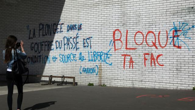 L'université Paris 8 Saint-Denis toujours bloquée le 6 avril 2018 [Ludovic MARIN / AFP]