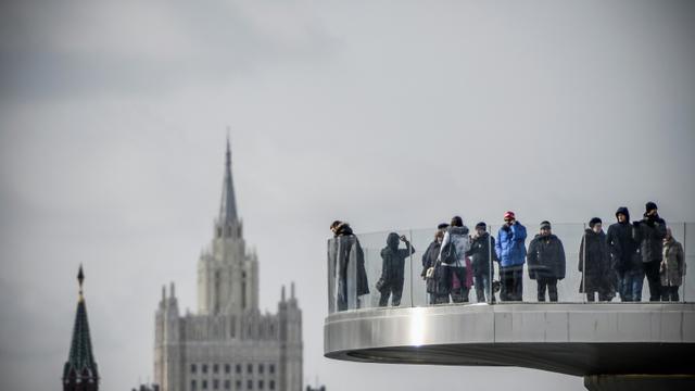 Vue sur le ministère russe des Affaires étrangères et un tour du Kremlin à Moscou, le 17 mars 2018 [Alexander NEMENOV / AFP]