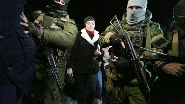 Soldats prorusses dans la région de Donetsk, le 24 février 2017 [Aleksey FILIPPOV / AFP/Archives]