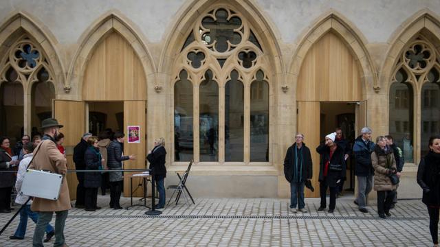 Des visiteurs le 11 décembre 2015 au musée Unterlinden de Colmar [SEBASTIEN BOZON / AFP/Archives]