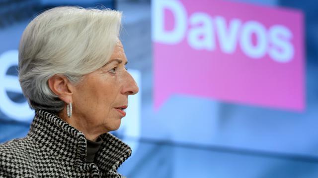 Christine Lagarde le 21 janvier 2016 à Davos [FABRICE COFFRINI / AFP/Archives]