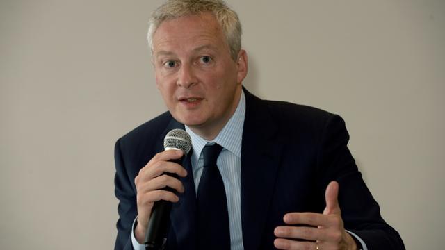 Le ministre de l'Economie Bruno Le Maire, le 2 avril 2019 lors de la présentation de son livre à Paris [ERIC PIERMONT / AFP]