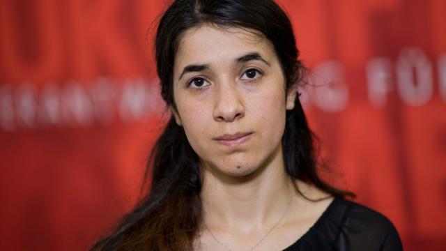Le prix Nobel de la paix a été attribué à la Yazidie Nadia Murad, ex-esclave du groupe Etat islamique  [Julian Stratenschulte / DPA/AFP/Archives]