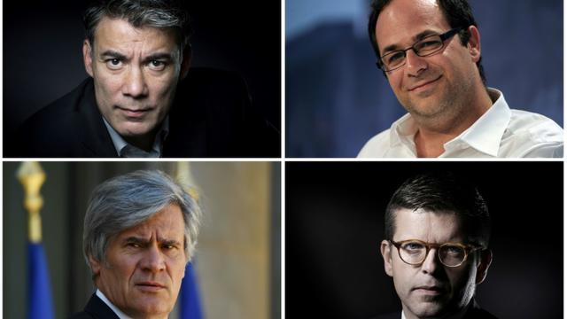Un combo de photos des quatre candidats à la tête du PS: Olivier Faure, Emmanuel Maurel, Stéphane Le Foll et Luc Carvounas [- / AFP/Archives]