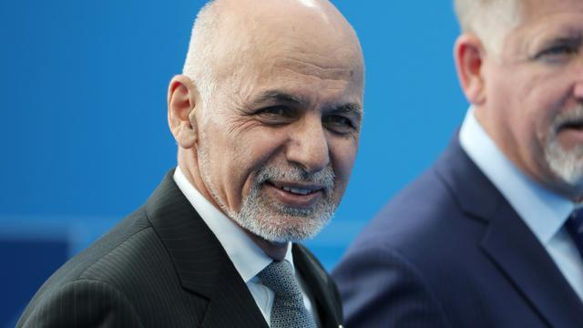 Le président afghan Ashraf Ghani, à Bruxelles lors d'un sommet de l'Otan, le 12 juillet 2018 [Tatyana ZENKOVICH / POOL/AFP/Archives]