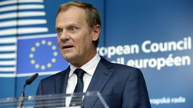 Le président du Conseil européen, Donald Tusk, le 26 juin 2015 à Bruxelles [THIERRY CHARLIER / AFP/Archives]