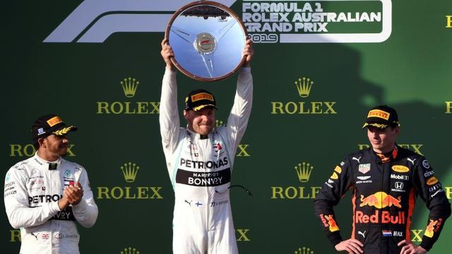 Valtteri Bottas vainqueur avec Mercedes du premier GP de la saison, le 17 mars 2019 à Melbourne  [WILLIAM WEST / AFP]
