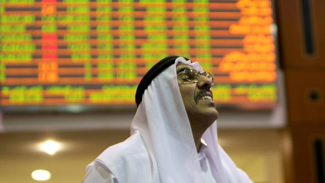 Un trader à la bourse de Dubaï, le 8 septembre 2008 [KARIM SAHIB / AFP/Archives]