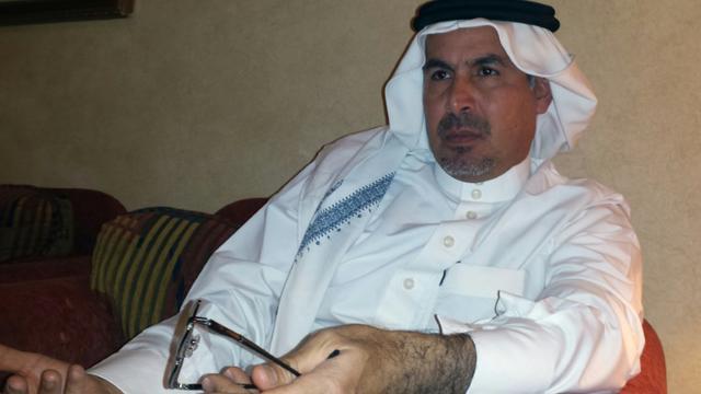Mohammed al-Nimr, le père d'Ali al-Nimr, un jeune Saoudien chiite menacé d'exécution, lors d'une interview à l'AFP le 23 septembre 2015 à Ryad [STR / AFP]