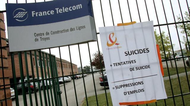 L'entrée du centre de construction des lignes de Troyes, le 10 septembre 2009 après le suicide de plusieurs salariés de l'entreprise [ALAIN JULIEN / AFP/Archives]