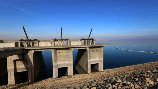 Le barrage de Mossoul, le 1er février 2016 [SAFIN HAMED / AFP/Archives]