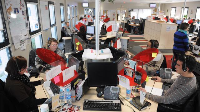 Un centre d'appels [Jean-François Monier / AFP/Archives]