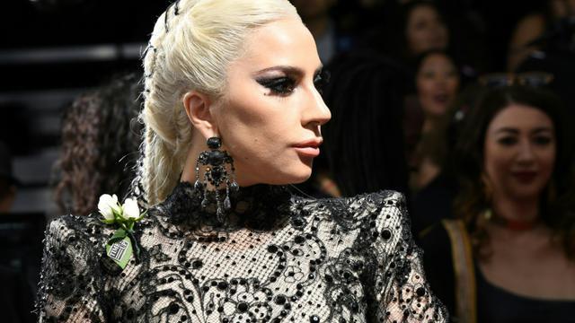 L'artiste américaine Lady Gaga aux Grammy Awards à New York, le 28 janvier 2018 [ANGELA WEISS / AFP/Archives]