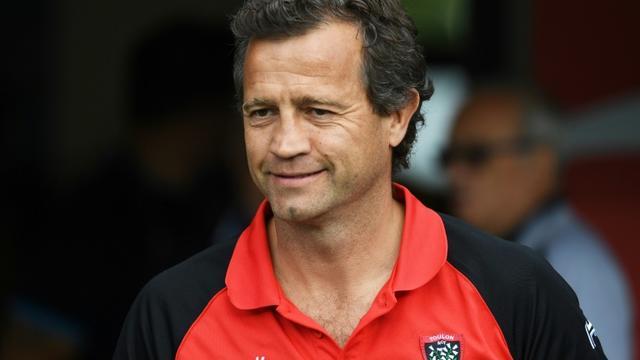Fabien Galthié, alors manager du RC Toulon, le 17 septembre 2017 à l'occasion d'un match de Top 14 à Montpellier [PASCAL GUYOT / AFP/Archives]