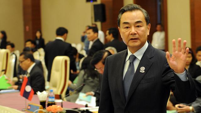 Le ministre chinois des Affaires étrangères Wang Yi, à une réunion avec ses homologues d'Asie du Sud-Est à Naypyidaw, en Birmanie, le 9 août 2014 [Soe Than Win / AFP]