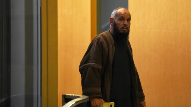 L'imam El Hadi Doudi le 8 avril 2018 [ANNE-CHRISTINE POUJOULAT / AFP/Archives]
