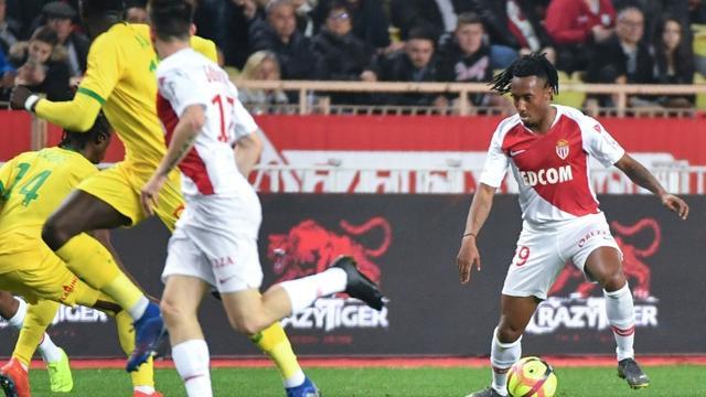 Le milieu de terrain de Monaco Gelson Martins buteur lors de la victoire 1-0 à domicile face à Nantes le 16 février 2019 [YANN COATSALIOU / AFP]