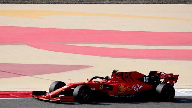 Le Monégasque Charles Leclerc (Ferrari) lors de la 3e séance d'essais libres du GP de Bahreïn sur le circuit de Sakhir, le 30 mars 2019  [Karim Sahib / AFP]